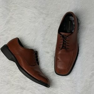Rockport leather lace up loafer shoes